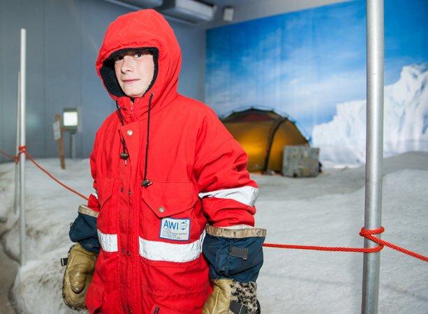 Antarktis mit Jungen