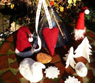 Weihnachtliches Filzen