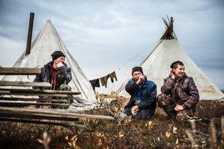 Dmitrij Leltschuk, Rentierzüchter in der Erdölregion Komi