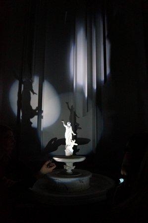 Taschenlampenführung im Museumskubus