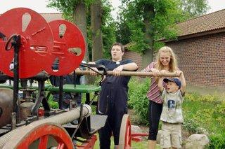 Besucher beim Pumpen