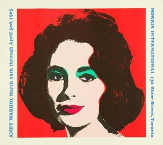 Posters Andy Warhol Morris International Toronto 1964
