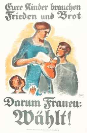 Martha Jäger, Eure Kinder,Wahlwerbeplakat, 1919