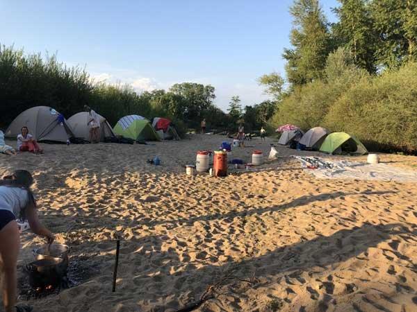 Camp, Kanu, Fluss