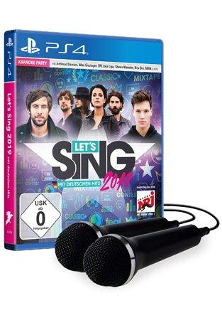 Let`s Sing 2019 für die PS4, mit 2 Mikros