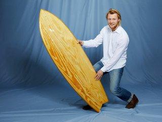 Surfboard aus Treibholz