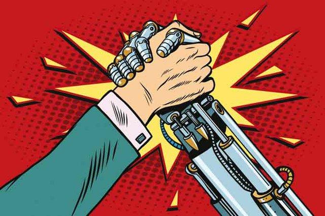 Mensch gegen Maschine,