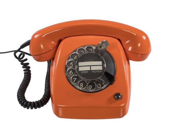 Wählscheibentelefon orange
