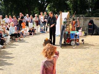Marionettentheater beim Sommerfest im Jenisch Haus