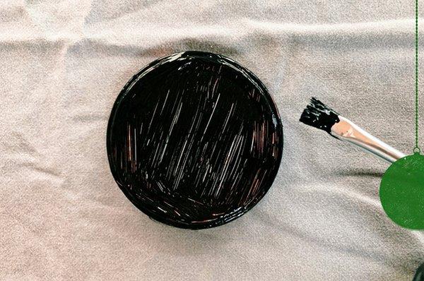 6. Einmachdeckel mit Farbe bemalen